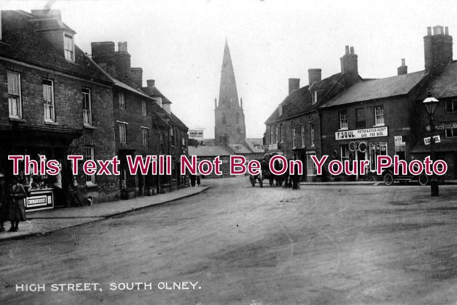 BF 149 - High Street South, Olney, Bedfordshire c1924 - 6x4 Photo