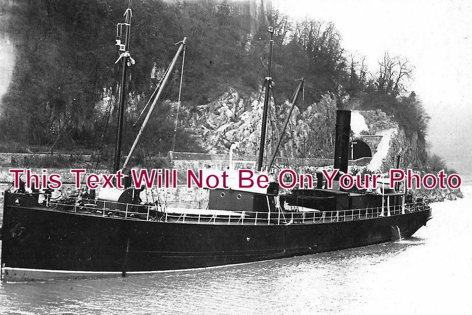 BR 154 - Steamboat Directly Below Clifton Suspension Bridge, Bristol - 6x4 Photo
