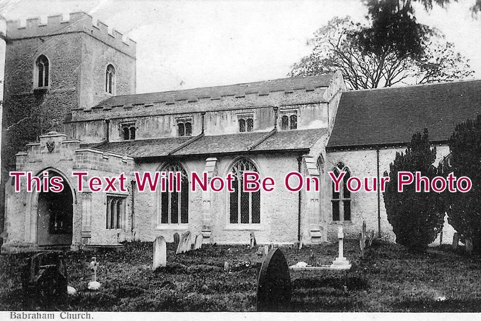 CA 17 - Babraham Church, Cambridgeshire c1906 - 6x4 Photo