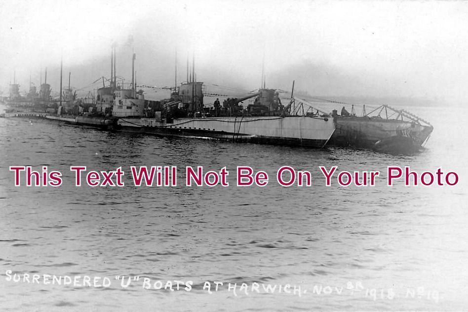 ES 1071 - Surrendered WW1 German U Boats, Submarines, Harwich, Essex - 6x4 Photo