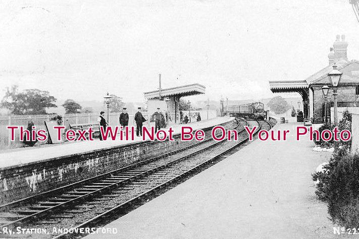 GL 1 - Andoversford Railway Station, Gloucestershire c1911 - 6x4 Photo
