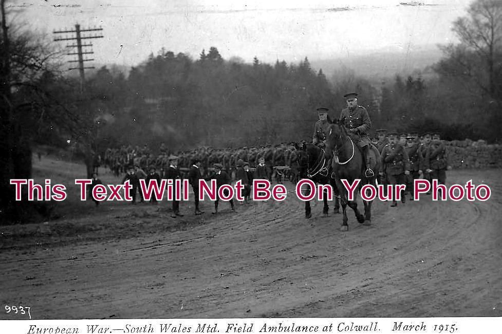HR 12 - South Wales Mtd Field Ambulance, Colwall, Herefordshire 1915 - 6x4 Photo