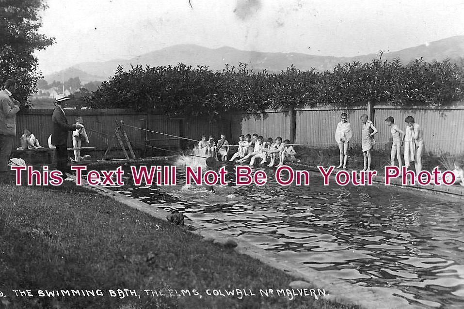 HR 159 - The Elms School Swimming Pool, Colwall, Herefordshire c1909 - 6x4 Photo