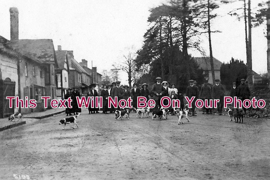 HR 160 - A Meet Of The Harriers In Bosbury, Herefordshire c1910 - 6x4 Photo