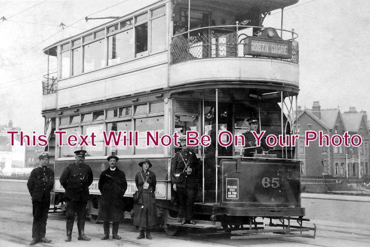 LA 1011 - Blackpool Tram & Staff, Lancashire - 6x4 Photo