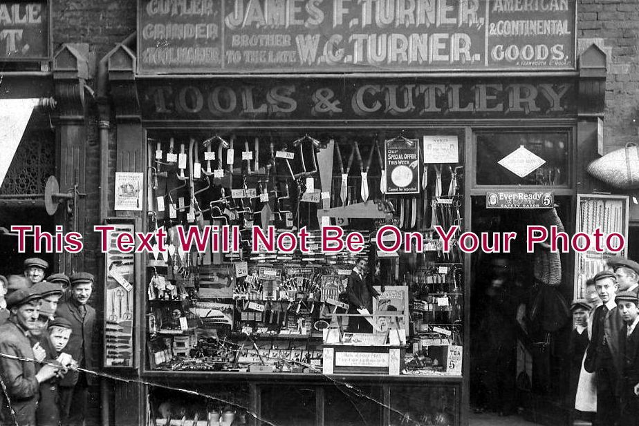 LA 1042 - JF Turner, Tools & Cutlery, Bolton, Lancashire - 6x4 Photo