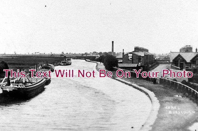 LA 1069 - The Canal & Barges, Burscough, Lancashire - 6x4 Photo