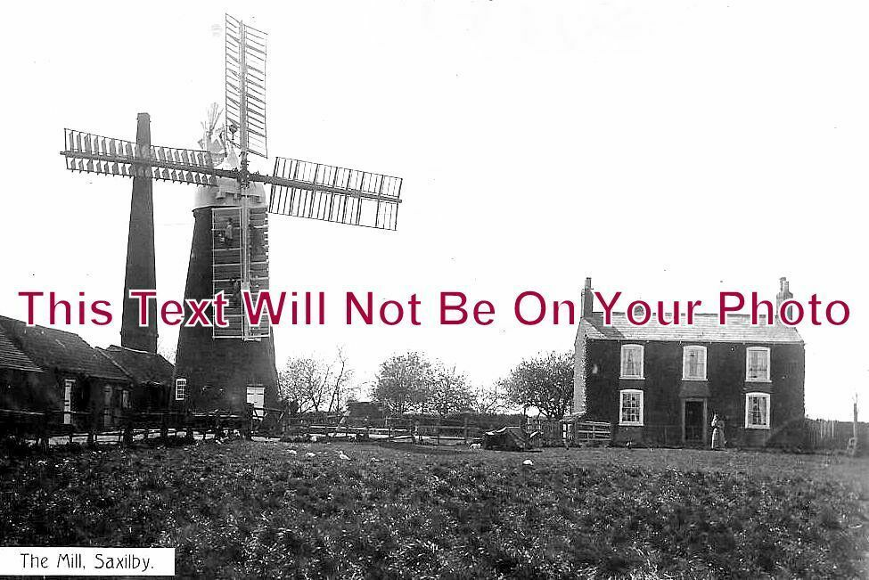 LI 1059 - The Mill, Windmill, Saxilby, Lincolnshire - 6x4 Photo
