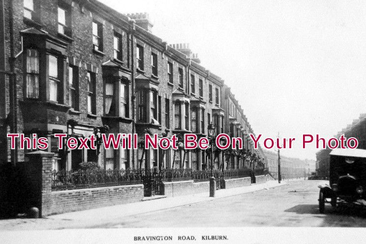 LO 1016 - Bravington Road, Queens Park, Maida Vale, Kilburn, London - 6x4 Photo