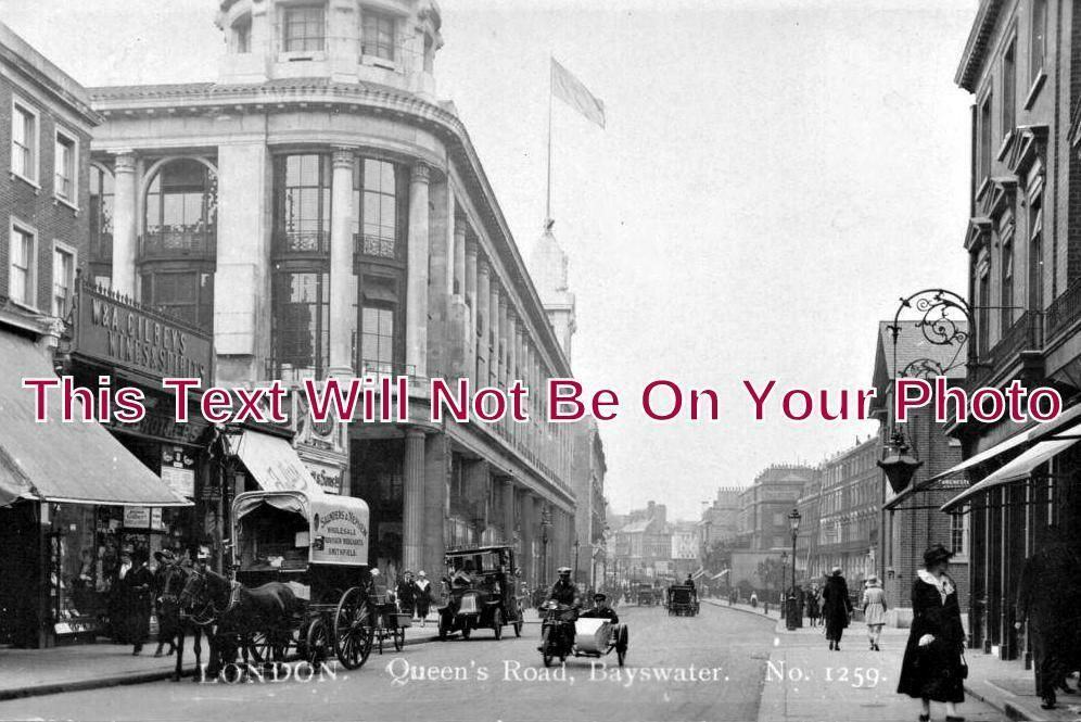 LO 1077 - Queens Road, Bayswater, London c1924 - 6x4 Photo