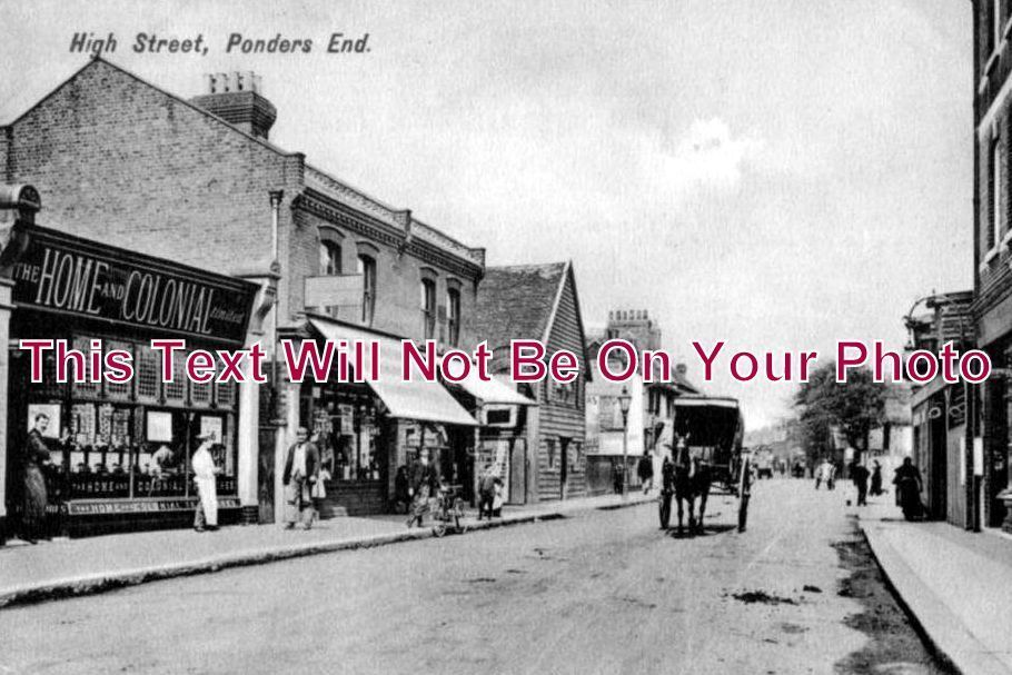 MI 123 - High Street, Ponders End, Enfield, Middlesex c1907 - 6x4 Photo