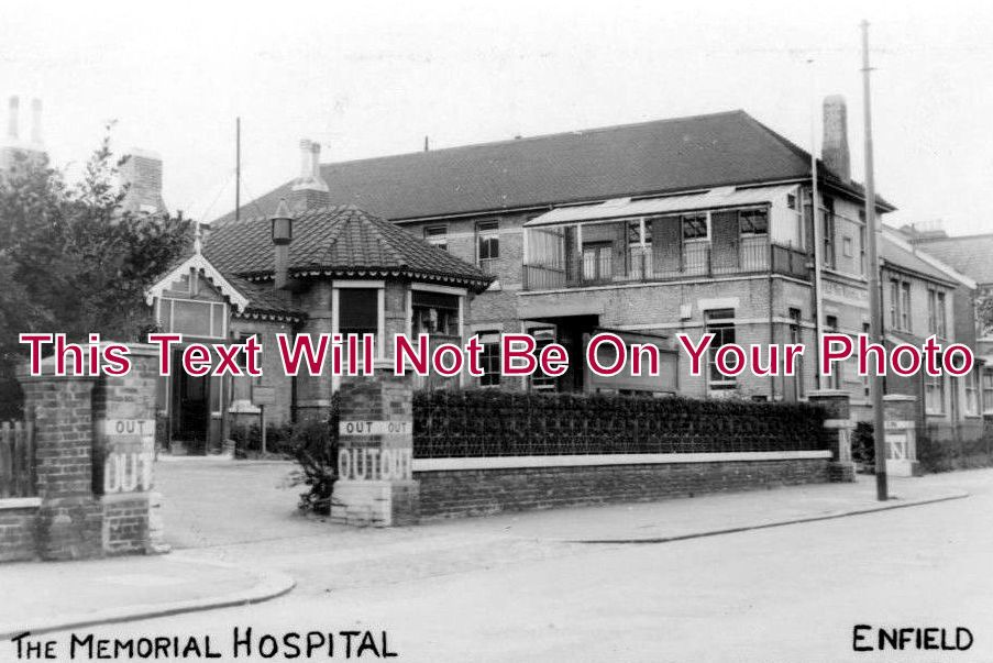 MI 153 - Enfield Memorial Hospital, Middlesex - 6x4 Photo