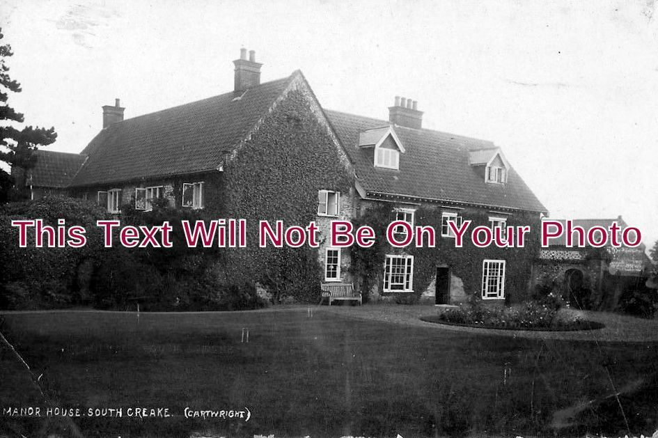 NF 1016 - The Manor House, South Creake, Norfolk c1921 - 6x4 Photo