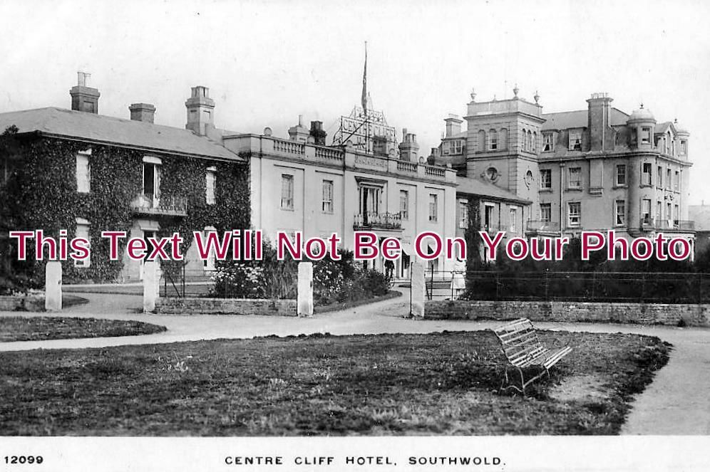 SF 1016 - Centre Cliff Hotel, Southwold, Suffolk c1916 - 6x4 Photo