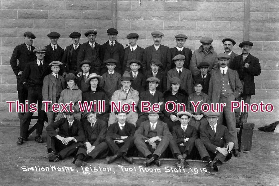 SF 1061 - Station Works, Leiston, Tool Room Staff, Suffolk 1918 - 6x4 Photo
