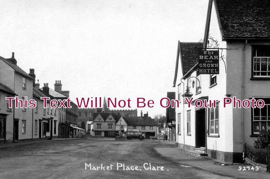 SF 1074 - Market Place, Clare, Suffolk - 6x4 Photo