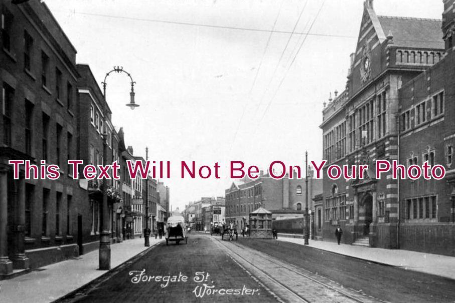 WO 120 - Foregate Street, Worcestershire c1918 - 6x4 Photo